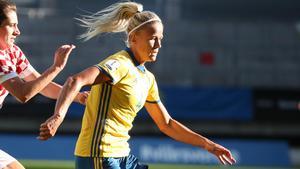 Hanna Glas missar VM-kvalmatchen mot Ukraina.