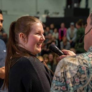 Trots stor nervositet inför att baka live framför en publik nådde Anna Åsberg Tallroth ända fram. Foto: Jonas Svenningson