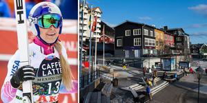 Lindsey Vonn har hyrt ett hus i Åre för att få optimala förutsättningar under VM. Bild: TT/Montage