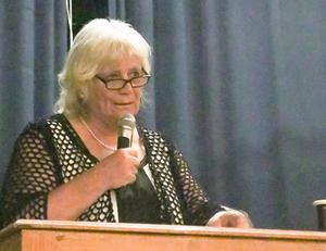 Margareta Winberg berättade om sitt uppdrag, att föreslå ny lagstiftning för socialtjänsten. Foto: Kerstin Andersson