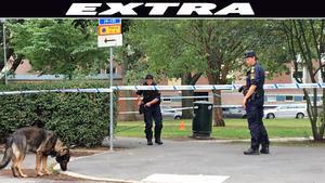 Polisen sökte med hundar i Karl Johan-parken på måndagsförmiddagen där en person hittades avliden.