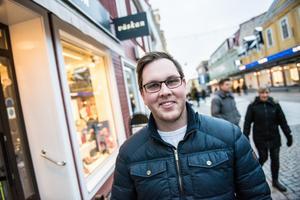 Oscar Nordin från Örnsköldsvik letade julklappar till föräldrarna.