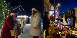 Med tomtar, kallgrader och snö fick Järvsöborna en försmak av julen under lördagens julskyltning.