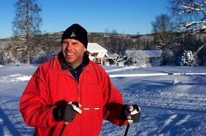 Per-Olof Boström tycker förstås att det är roligt att skidåkare nominerat medlemmar i Nyhammars IF till Stora skidspårspriset.Foto: Claes Söderberg/Arkiv