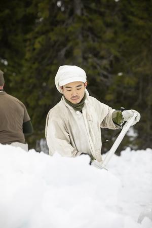 Under dagen ska det bland annat grävas en grund där tältet ska stå.