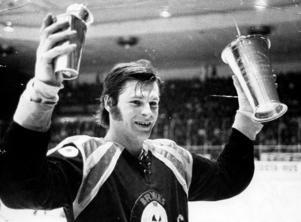 Tord Lundström när Brynäs tog SM-guld 1972. Foto: Arkiv