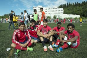 Mirwais Golami, Mehdi Iskandari, Mahdi Wafai, Sade Askar och Amahadari Zerai fån Estonte laget Stöd och träning  hoppas på vinst i år.