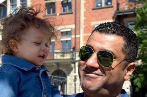 Tarek Atwa och sonen Josef