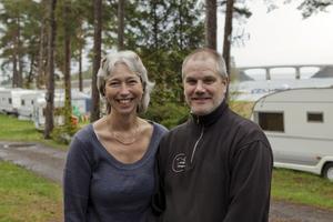 Annika och Anders Fransson har försökt att sälja Singö camping i flera år. Foto: Stig-Göran Nilsson