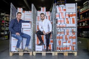 Mårten Åkeson och Adam Gillberg på Karlskogaföretaget Proteinbolaget i Sverige är årets länsgasell i Örebro län. Pressbild.