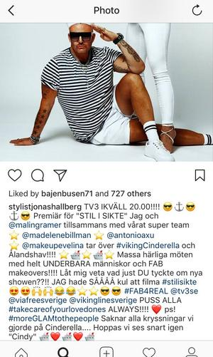 På sin instagram skriver Jonas Hallberg att han och Malin Gramer med superteam  tar över Viking Cinderella och Ålands hav.