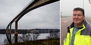 Under hösten fick Alnöbron ny beläggning. Nu ses bron över igen och den här gången ska de slitna fogarna utredas liksom en flytt av gång- och cykelbanan.