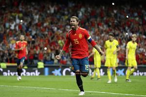 Sergio Ramos stod för matchens första mål, ett av de två på straff.