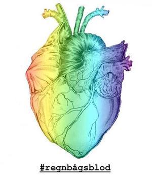 Så här ser Regnbågsblods logotyp ut. Foto: Privat