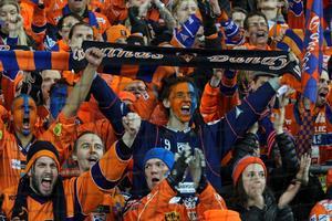 Supporterföreningen Bollnäs Flames är uppskattad av arenapoliser i hela landet.
