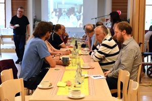 Omkring 70 gäster fanns på plats i Andreasgården.