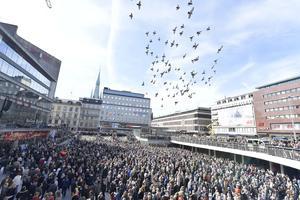 Manifestation på Sergels torg.