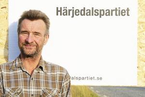 Olle Larsson är ordförande i Härjedalspartiet och förstanamn på listan i kommunalvalet.