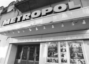 Den forna biostaden. Metropol låg på Norra Kopparslagargatan 1916 till 1986.