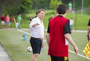 Per-Åke Swärdh var nöjd över hur spelarna hanterade pressen.