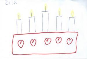 Ella Sammalisto 7 år från Sandviken.