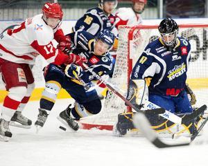 Målskyttarna Robert Carlsson, HSK, och Niklas Sjölund, BHF, antecknades båda för varsitt mål i söndagens daladerby i Allettan.