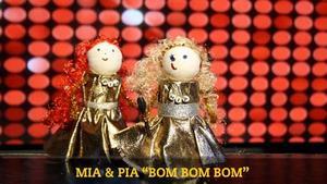 """Vann 2010. Förra årets vinnare av """"Minimello"""", toarulleartisterna Mia och Pia."""