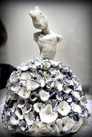 En av de två skulpturer som representerade Tania Fred på årets Y-salong.