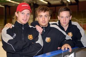 Viktor Amnér, Robin Gartner och Patrik Eklund, tre unga Morabackar som är beredda att ta ytterligare ett steg på karriärstegen. Foto:Gunnar Bäcke