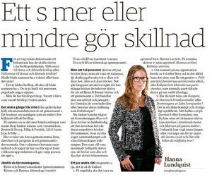 Hanna Lundquists språkkrönika från 3/11.