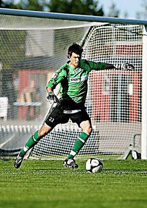 Emil Hedvall, målvakt i Gefle IF.