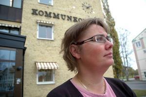 Centerpartistiska kommunalrådet Karin Stierna ska presentera fyra utvalda slutkandidater till jobbet som ny kommunchef nästa vecka. Foto: Lasse ljungmark