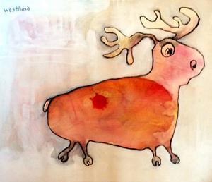 Hans Westlund visar teckningar och målningar av både djur och människor, vanliga och ovanliga.