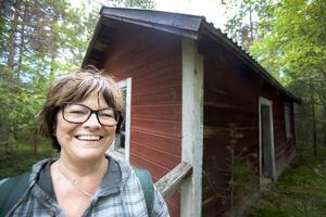 Tina Persson var en av deltagarna på vandringsdagarna i Fjällsjö. Hon fick återse sin stuga i Jansjöbodarna, där hon tillbringade många somrar som barn.