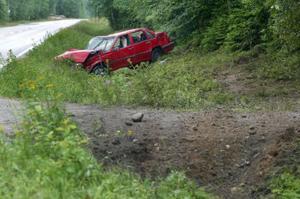 En våldsam singelolycka inträffade i morse i Kovland.
