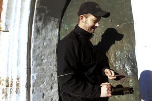 Patrik Axelsson har jobbat som kyrkvaktmästare i åtta år.