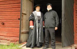 Lennart Ekman och Sören Jonsson i Gustav Vasa-spelet i Svärdsjö 2015.  2020 ska Gustav Vasa spelas igen, när det är 500 år sedan Gustav Vasa flydde undan danskarna.  Bild: Torbjörn Svensson