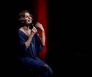 Helen Sjöholm under ett uppträdande i Sundsvall ifjol.