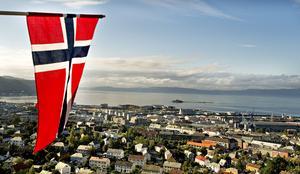 Utsikt över staden Trondheim.