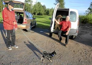 Störst och minst: Chihuahuan Arne och leonbergern Teddy.