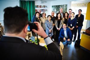 Den tyska delegationen, bestående av politiker från det tyska parlamentet Bundestag, besökte Lina grundskola på tisdagen.