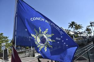 The Conch Republic har en egen flagga och är det låtsasland som utropade sin självständighet ute på Key West 1982.   Foto: Anders Pihl/TT