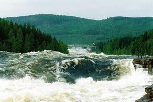 Det tar nio dygn för vattnet är färdas i Indalsälven från Storsjön till Hammarstrand.