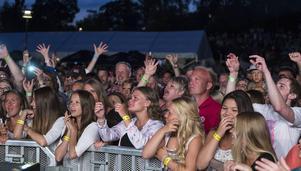 Laxfestivalen 2014, publiken från när Charlotte Perelle uppträde.