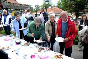 Matmarknaden i Säter var ett populärt inslag på förra årets Skördefest.