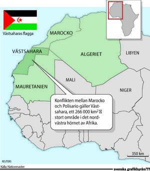 Västsahara är ockuperat av Marocko sedan 1975