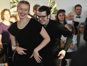 Gustav Mårtensson och Caroline Eriksson från Östersund.
