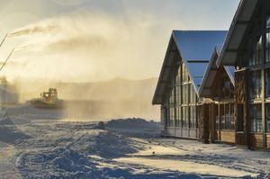 Snötillverkningen är i full gång hos anläggningen.