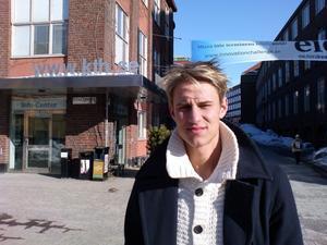 Zebastian Lovén från Örebro studerar första året på KTH i Stockholm.