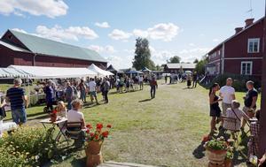 I somras anordnades en marknad på Lindarnas gård.